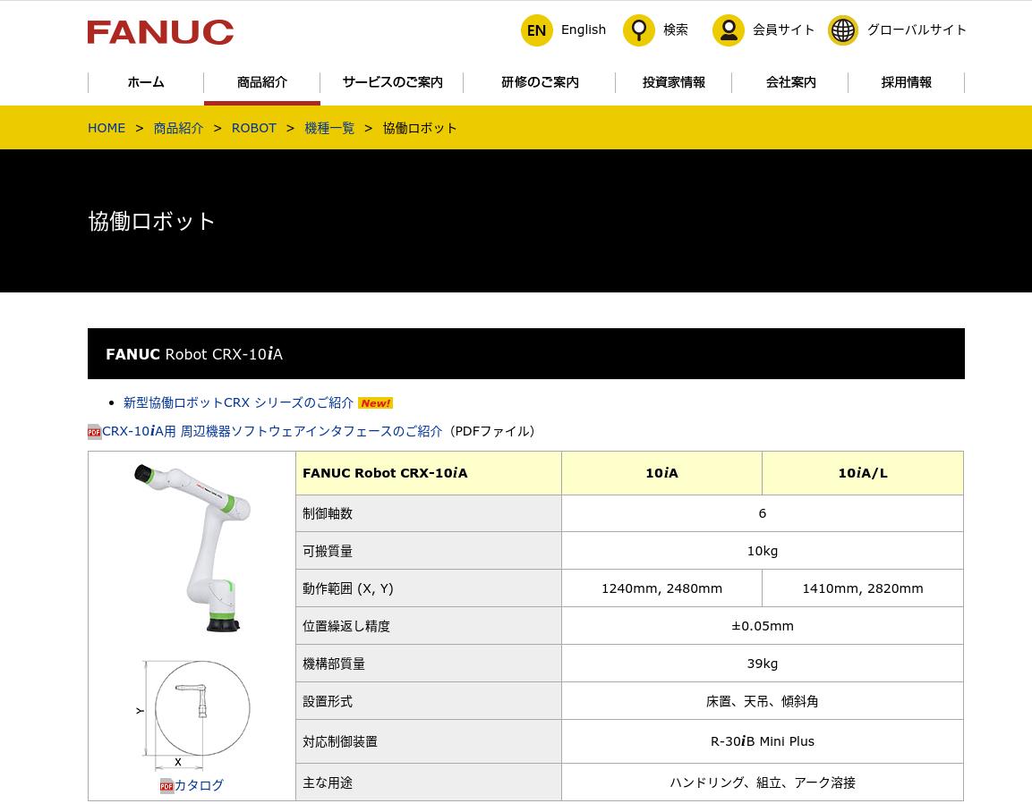 FANUC Robot CRX-10iA