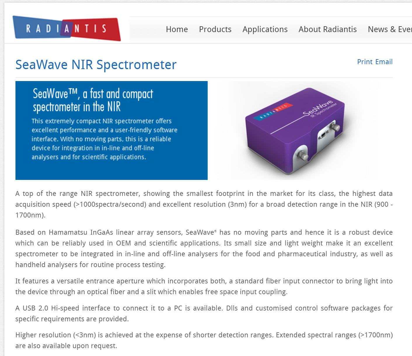 SeaWave NIR Spectrometer