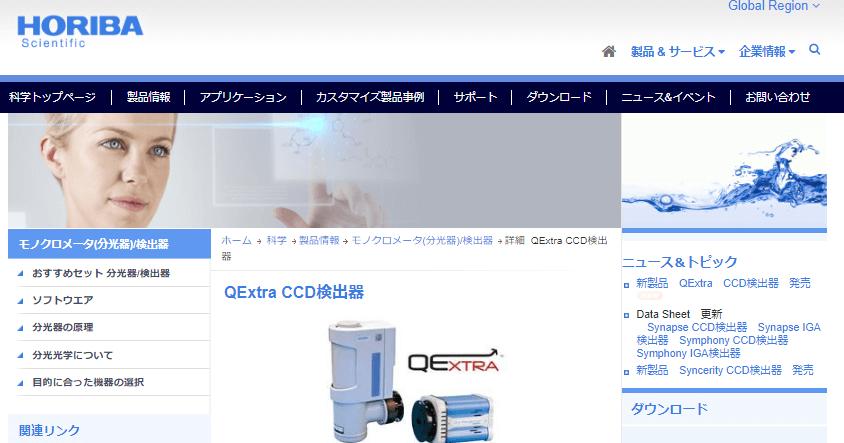 QExtra CCD検出器