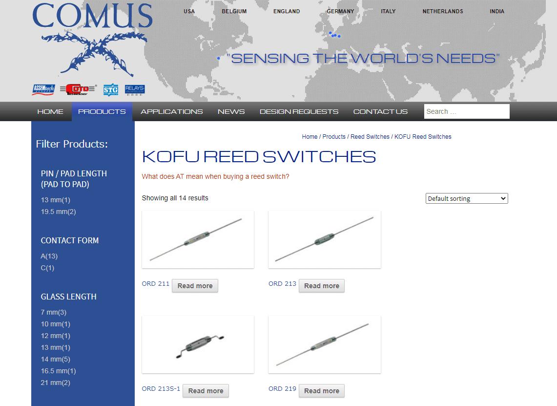 KOFU Reed Switches