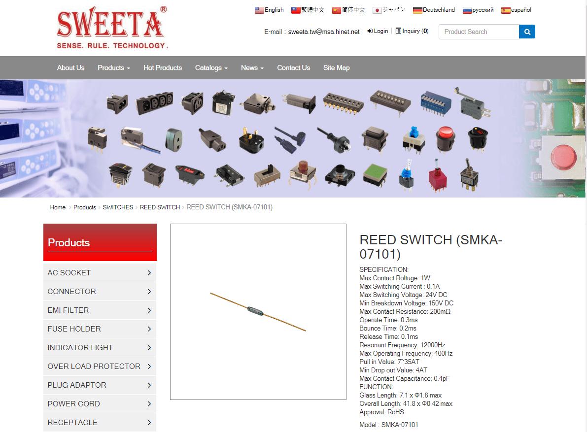 REED SWITCH (SWMKA-07101)