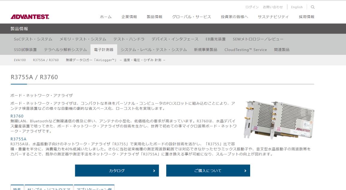 ボード・ネットワーク・アナライザ R3760