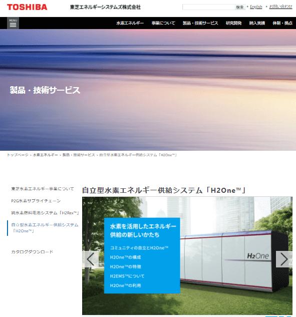 自立型水素エネルギー供給システム「H2One™」