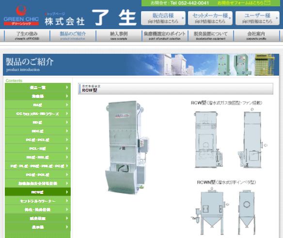 湿式集塵装置RCW型