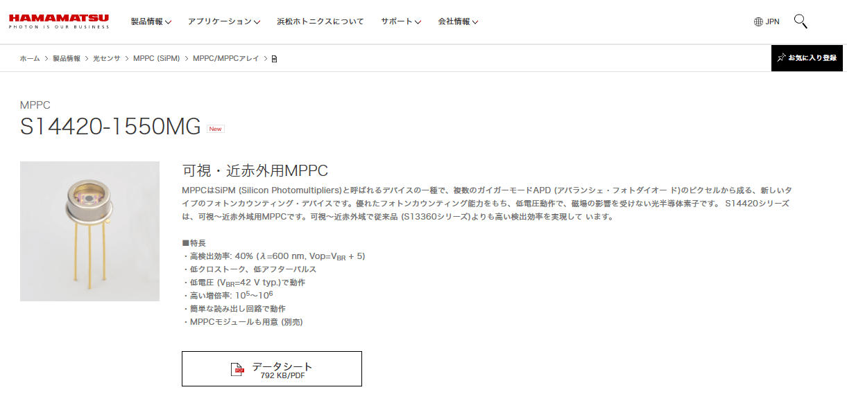 MPPC S14420-1550MG