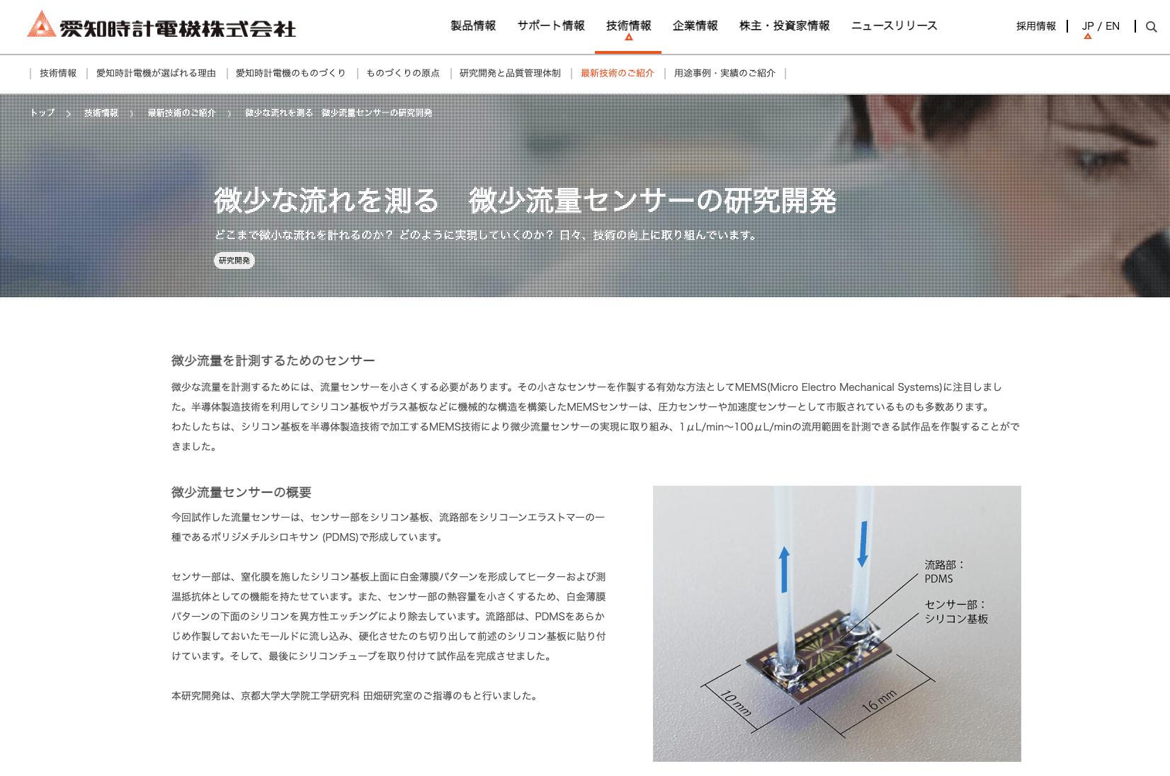 微少流量センサー OF-Z(MICROSTREAM)